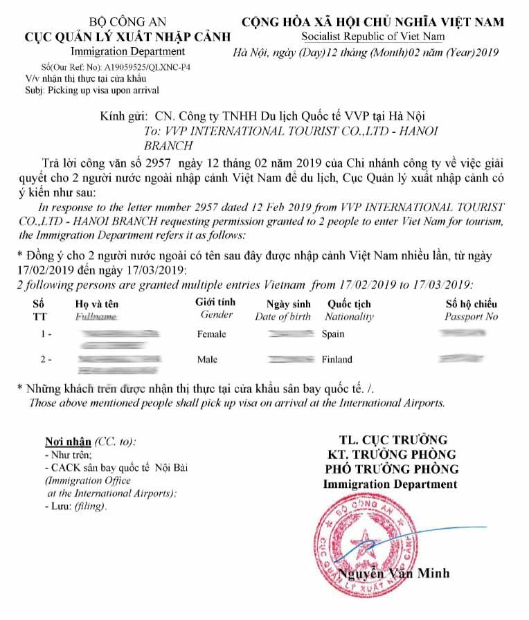 visado-vietnam-carta-de-aprobación